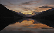 Gloaming Prints - Sunset over Loch Doine Print by Buster Brown