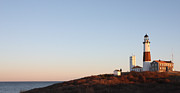 Sunset Over Montauk Lighthouse Photos - Sunset over Montauk Lighthouse by John Telfer