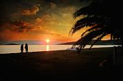Sunset Over Mytilene Print by Taylan Soyturk