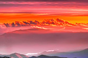 Randall Branham Prints - Sunset over North Carolina Mtns. Print by Randall Branham