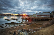 Maine Shore Prints - Sunset Over Portsmouth Print by Eric Gendron