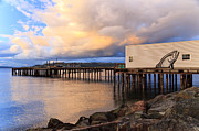 Ruston Way Prints - Sunset Over Puget Sound Print by Karma Boyer
