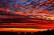 Blazing Prints - Sunset Over Queen Anne Print by Benjamin Yeager