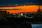 Red Sky Prints - Sunset over St Pauls Cathedral Print by Stuart Perkins