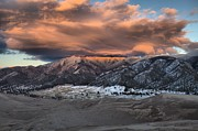Colorado Sand Dunes Posters - Sunset Over The Dunes Poster by Adam Jewell