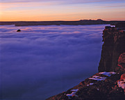 Inversion Prints - Sunset over the fog sea Print by Duncan Mackie