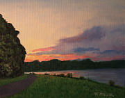 Patrick ODriscoll - Sunset Over the Lake