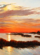 Sarah Grangier - Sunset Over the Marsh