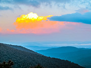 Pisgah Photographs Posters - Sunset Over the Mountains Poster by Gwendalyn  Abrams