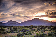 Southwestern Fountain Prints - Sunset Over the Preserve Print by Anthony Citro