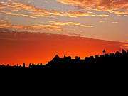 Hove Framed Prints - Sunset Over The Rooftops at Hove Framed Print by Tony Crehan
