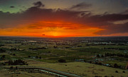 Sunset Over The Valley Print by Robert Bales