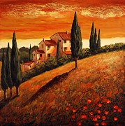 Santo De Vita - Sunset over Tuscany 1