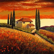 Santo De Vita - sunset over Tuscany  2
