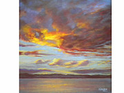Lively Pastels - Sunset over Vinuela October by Heather Harman