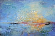 Featured Originals - Sunset Over Water by Karen Hale