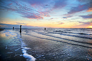 Mysterious Sunset Metal Prints - Sunset Paradise Jekyll Island  Metal Print by Betsy A Cutler East Coast Barrier Islands