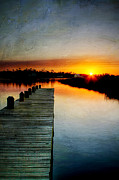 Joan Mccool Metal Prints - Sunset Pier Metal Print by Joan McCool