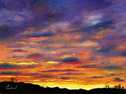 Evening Light Pastels Prints - Sunset Print by Prashant Shah