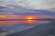 Tidal Pool Photos - Sunset Reflections by Benanne Stiens