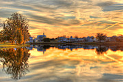 Fall River Scenes Posters - Sunset Reflections Poster by Leslie Kirk