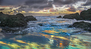 Layered Prints - Sunset Reflections Print by Robert Bales