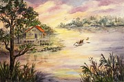 Apalachee Prints - Sunset Retreat Print by Roxanne Tobaison