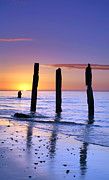 Sunset Seascape Framed Prints - Sunset Romance Framed Print by Bill  Robinson