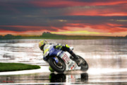 Motogp Posters - Sunset Rossi Poster by Blake Richards