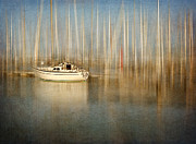 Fishing Boat Reflection Prints - Sunset Sail Print by Amy Weiss