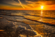 Sunset Seascape Digital Art Prints - Sunset Seascape Print by Adrian Evans
