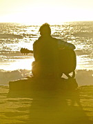 Guitar Player Photos - Sunset Serenade by Liz Vernand