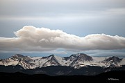 Storm Prints Acrylic Prints - Sunset Snow Cloud over the Sangres Acrylic Print by Barbara Chichester