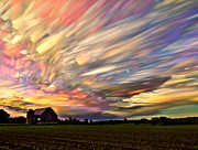 Barn Digital Art Framed Prints - Sunset Spectrum Framed Print by Matt Molloy