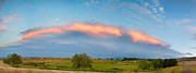 James BO  Insogna - Sunset Storm and Moon from Longmont to Boulder CO Panorama