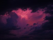 Cloud Mixed Media - Sunset Storm  by Todd and candice Dailey