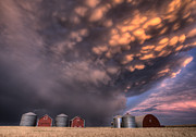Cloudscape Digital Art - Sunset Storm Clouds Canada by Mark Duffy