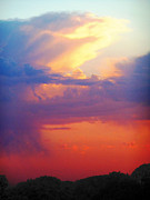 Storm Prints Prints - Sunset Storm Print by Karen Kennedy Chatham
