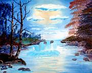 Sunset Stream Print by Dave Atkins