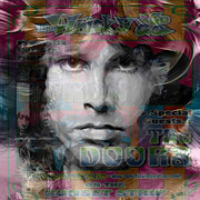 Jim Morrison Posters - Sunset Strip Poster by Leah Devora