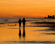 Al Powell Prints - Sunset Stroll Print by Al Powell Photography USA