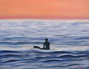 Jennifer Richards - Sunset surfer at Swami