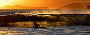 Florian Walsh Metal Prints - Sunset Surfer Metal Print by Florian Walsh
