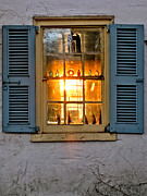 Historic Home Photo Metal Prints - Sunset Through a Window Metal Print by Olivier Le Queinec