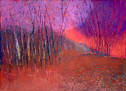Designer Pastels - Sunset trees by Jane Wilcoxson