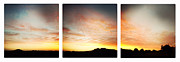 Sunset Triptych Print by Les Cunliffe