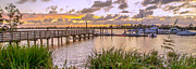 Mike Covington Art - Sunset View Boardwalk by Mike Covington