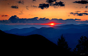 Western Carolina University Framed Prints - Sunset  View from the Blue Ridge   2008 Framed Print by Matthew Turlington