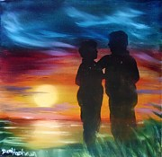 Waltz Paintings - Sunset Waltz by Dan Harshman