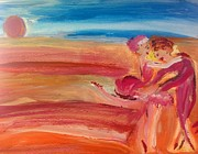Waltz Paintings - Sunset Waltz by Judith Desrosiers